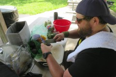 Guacamole being prepared by Mike KD9DLL