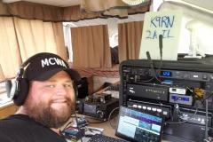 Mike KD9DLL operating the SSB Digital station