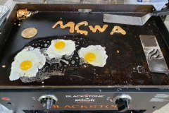 Pancakes and eggs MCWA style