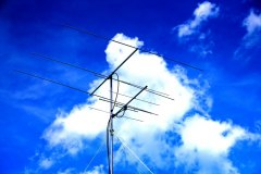 Six and two meter antenna setup