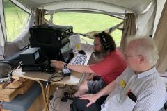 Dan, KD9M and Fred, AC9RQ operating SSB