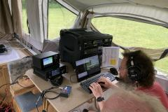 Dan, KD9M and Fred, AC9RQ  at the SSB station