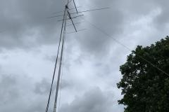 VHF antennas against a FD dark sky (bad weather was averted)