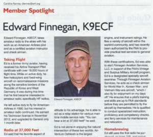 Ed Finnegan K9ECF feature in March 2020 QST